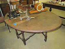 19thC Oak Gateleg Table