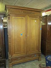 19thC Dutch Oak Wardrobe