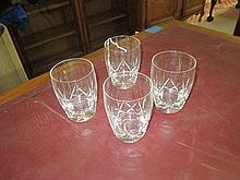 4 Stuart Crystal Cordial Glasses