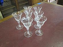 7 Crystal Sherry Glasses