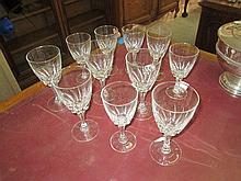 11 Piece Part Crystal Wine Set