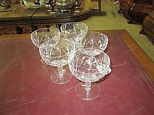 5 Stuart Crystal Wine Glasses