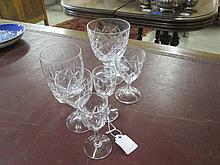 Collection of 6 Crystal Glasses