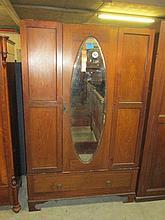 Edwardian Inlaid Wardrobe