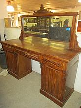 Victorian Mahogany Mirrorback Sideboard
