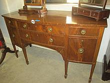 Georgian Bow Fronted Sideboard