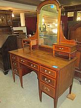 Edwardian Inlaid Mahogany Dressing Table