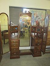 Victorian Walnut & Mahogany Dressing Table
