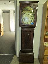 19thC Flame Mahogany Grandfather Clock