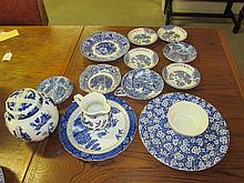 Collection of Blue & White Items
