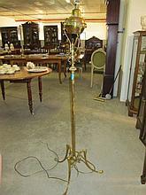 Art Nouveau Brass Standard Lamp