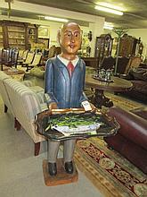 Carved Wooden Waiter