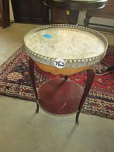 Early 20thC Continental Marble Top Table
