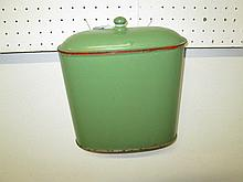 Vintage Enamel Wall Mounted Container