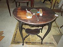 Victorian Kidney Shaped Occasional Table