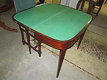George III Inlaid Mahogany Card Table