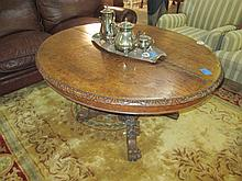19thC Carved Oak Occasional Table