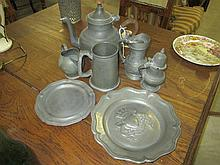 7 Pewter Items