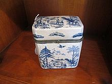 Blue & White Tea Caddy