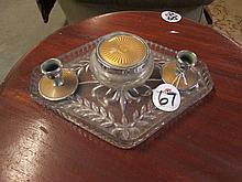 Glass Art Deco Dressing Table Set