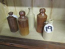 Collection of Pottery Bottles