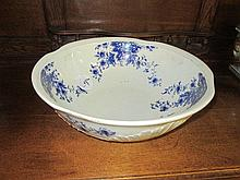 Blue & White Wash Basin