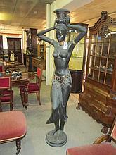 Bronzed North African Statue