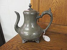 Victorian Pewter Hot Water Pot