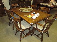 7 Piece Oak Dining Suite