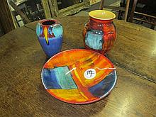 3 Poole Pottery Items