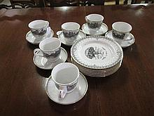 18 Piece Porcelain Tea Set