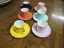 12 Piece Aynsley Harlequin Coffee Set