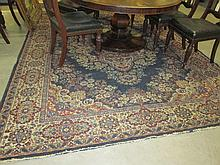 Blue Ground Carpet with Central Medallion