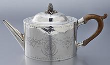 Daniel Van Voorhis American silver teapot,