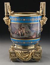 Sevres style H. Picard bronze mounted jardiniere,