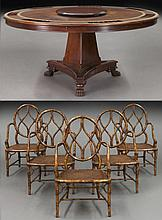 6 Pcs. Empire style poker / dining table