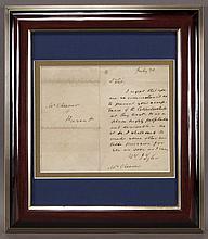 John Tyler autograph letter signed,