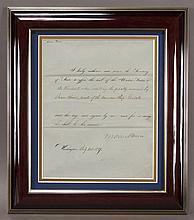 Martin Van Buren document signed,