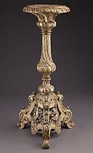 Carved gilt wood rococo style pedestal,