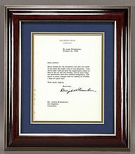 Dwight D. Eisenhower typed letter signed,