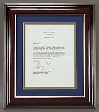 Gerald R. Ford typed letter signed,