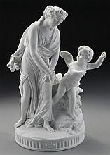 Sevres style bisque porcelain figural group