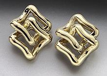 14K gold earrings with clip backs.