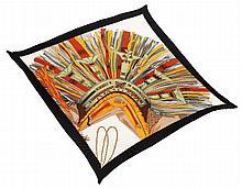 Hermès pleated silk