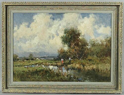 Russian Ivan Karpoff oil painting on canvas,