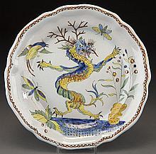 PB Quimper dragon plate.