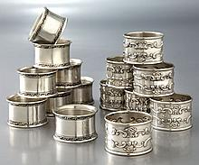 (15) American sterling napkin rings