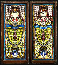 Pr. American stained glass Art Nouveau style