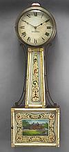 Federal mahogany and gilt banjo clock