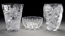 (3) Lalique France crystal items